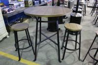 3 PC. PUB STYLE PATIO SET - WITH 2 STOOLS - Able Auctions