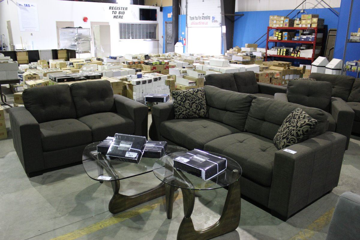 jamestown 2 piece sofa and loveseat group in gray lee industries 4 cushion 1296 44 grey upholstered set love seat
