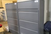HAWORTH PREMISE CHARCOAL 5 DRAWER LATERAL FILE CABINET