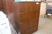 HAWORTH CHERRY 4 DRAWER LATERAL FILE CABINET