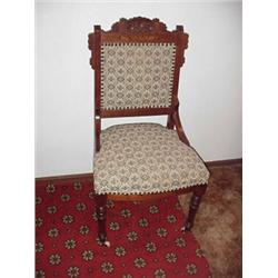eastlake victorian parlor chairs chair design wood nice covering caster on front legs