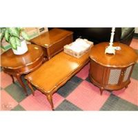 VINTAGE 4 PC COFFEE TABLE SET