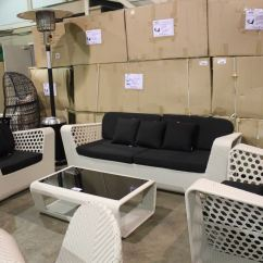 Rattan 4 Piece Sofa Set Black Small Es Configurable Sectional Walmart Wicked Wicker White And Outdoor Patio