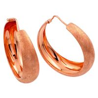 Sterling Silver Rose Gold Plated Hoop Earring ITE00081RGP