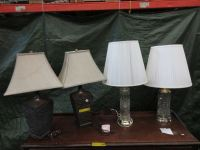 4 Table lamps - used