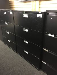 HON BLACK 4 DRAWER LATERAL FILE CABINET - Able Auctions
