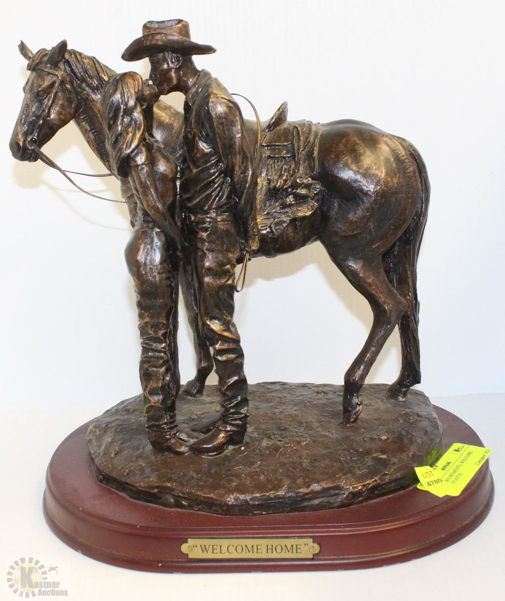 Western Moments Home Statue