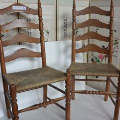 Ladder Back Cane Seat Dining Chairs Leather Johannesburg Set Of Four