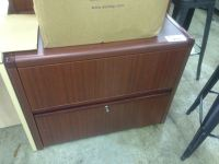MAHOGANY 2 DRAWER LATERAL FILE CABINET - Able Auctions
