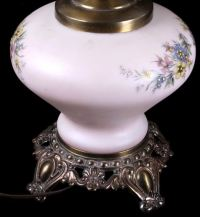 Antique Hand Painted Victorian Lamp