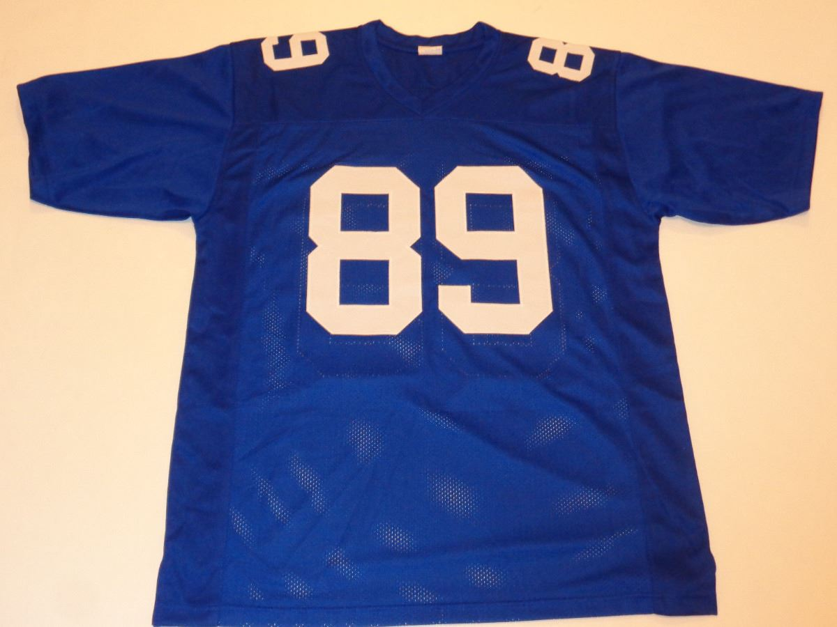 Mark Bavaro Unsigned Giants Blue Current Style Jersey Mens