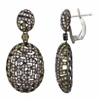 14KT White Gold Diamond Earrings