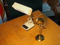 Desk Lamp And Bird Paperweight