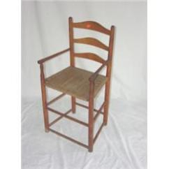 Rope Bottom Chair White Porch Chairs Early Ladderback Primitive High