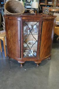 ANTIQUE GLASS FRONT DISPLAY CABINET