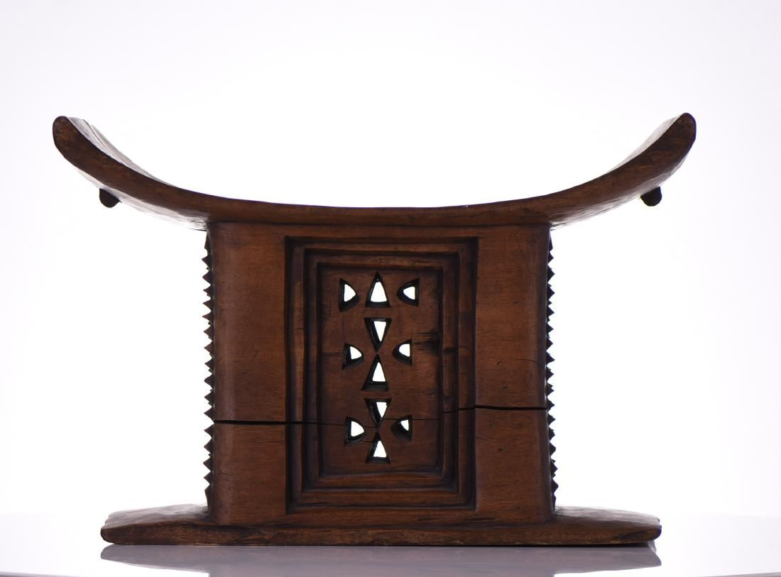 stool chair ghana target stacking chairs antique african asante chieftain image 3