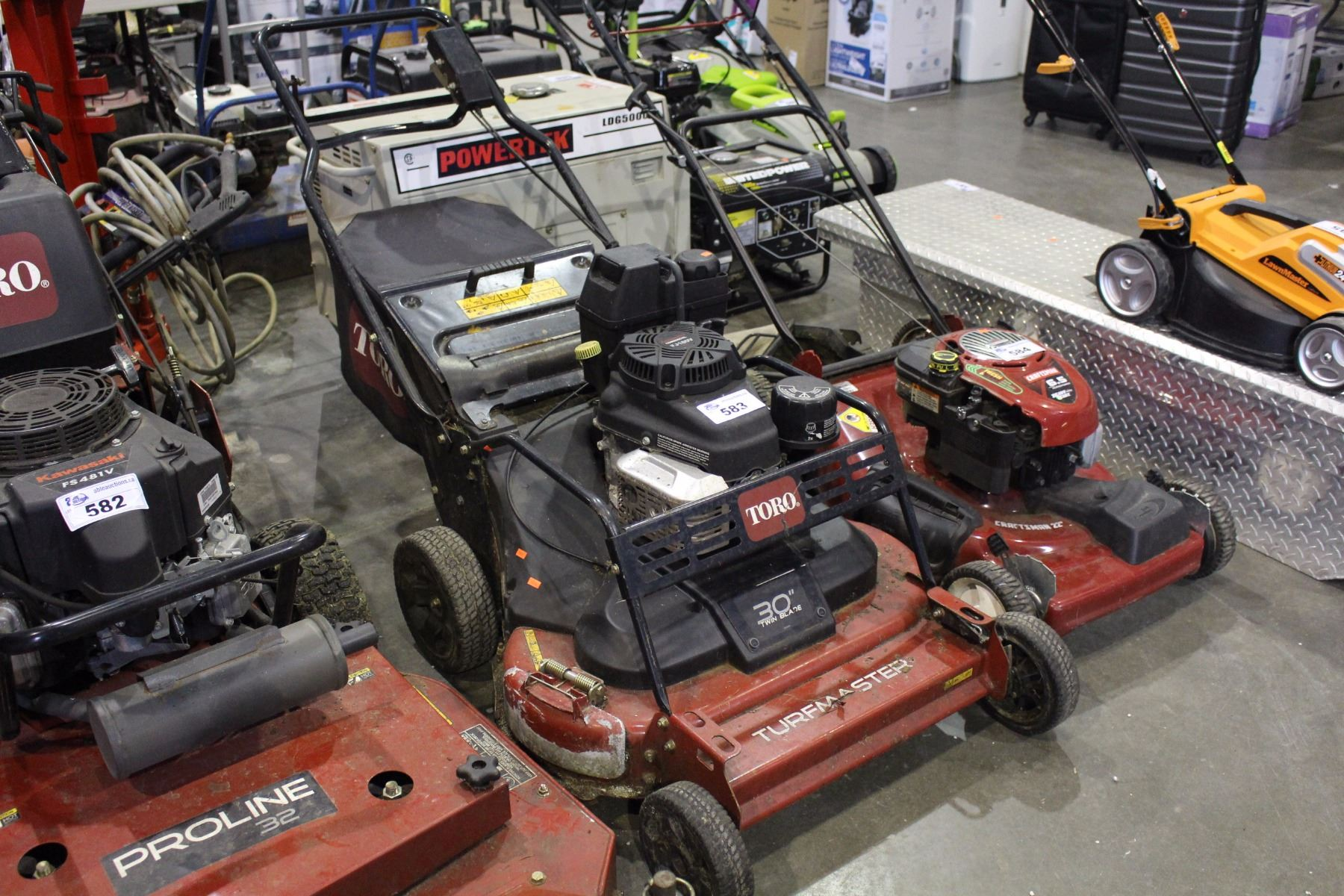 "Toro 30"" Twin Blade Turf Master Commercial Lawn Mower"