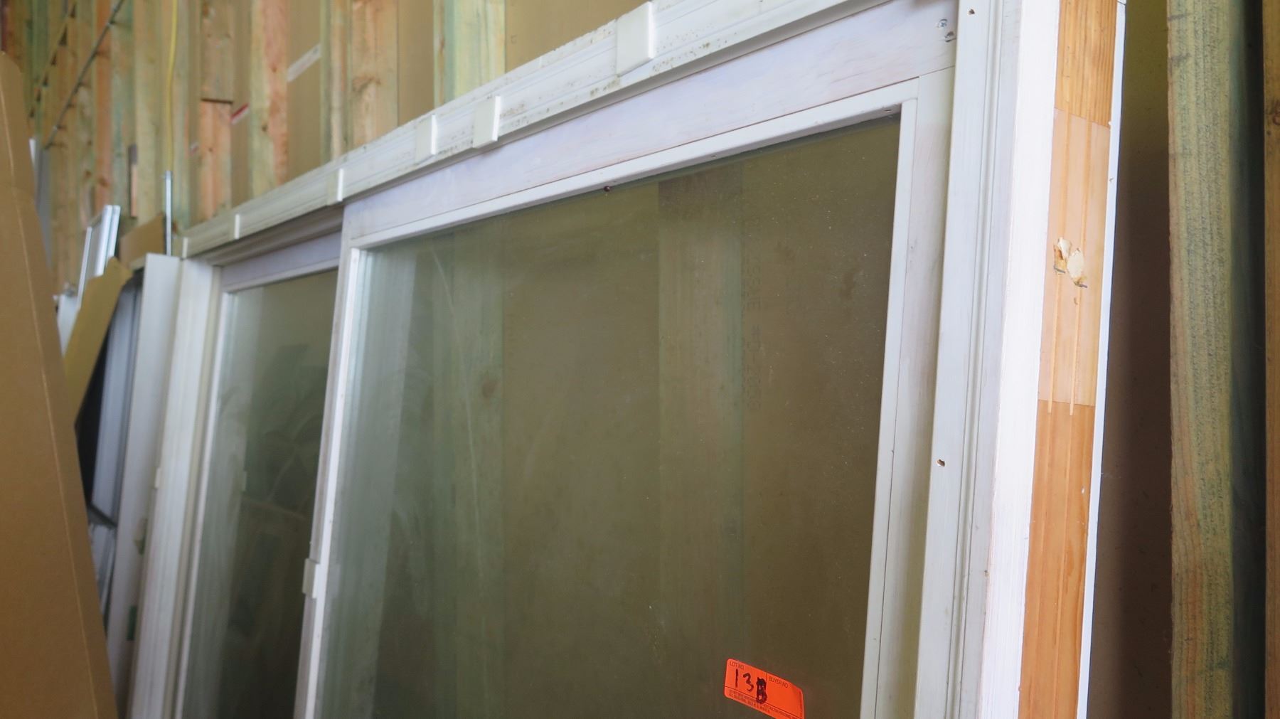 Patio Sliding Glass Door  White Tempered Clear Laminated Glass 79 x 9258 1500 Retail