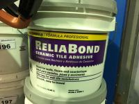 ONE 3.5 GALLON CONTAINER OF RELIABOND CERAMIC TILE ADHESIVE