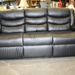 Reclining Sofa Brands Www Cheap Beds Brand New Black Leather Double Recliner