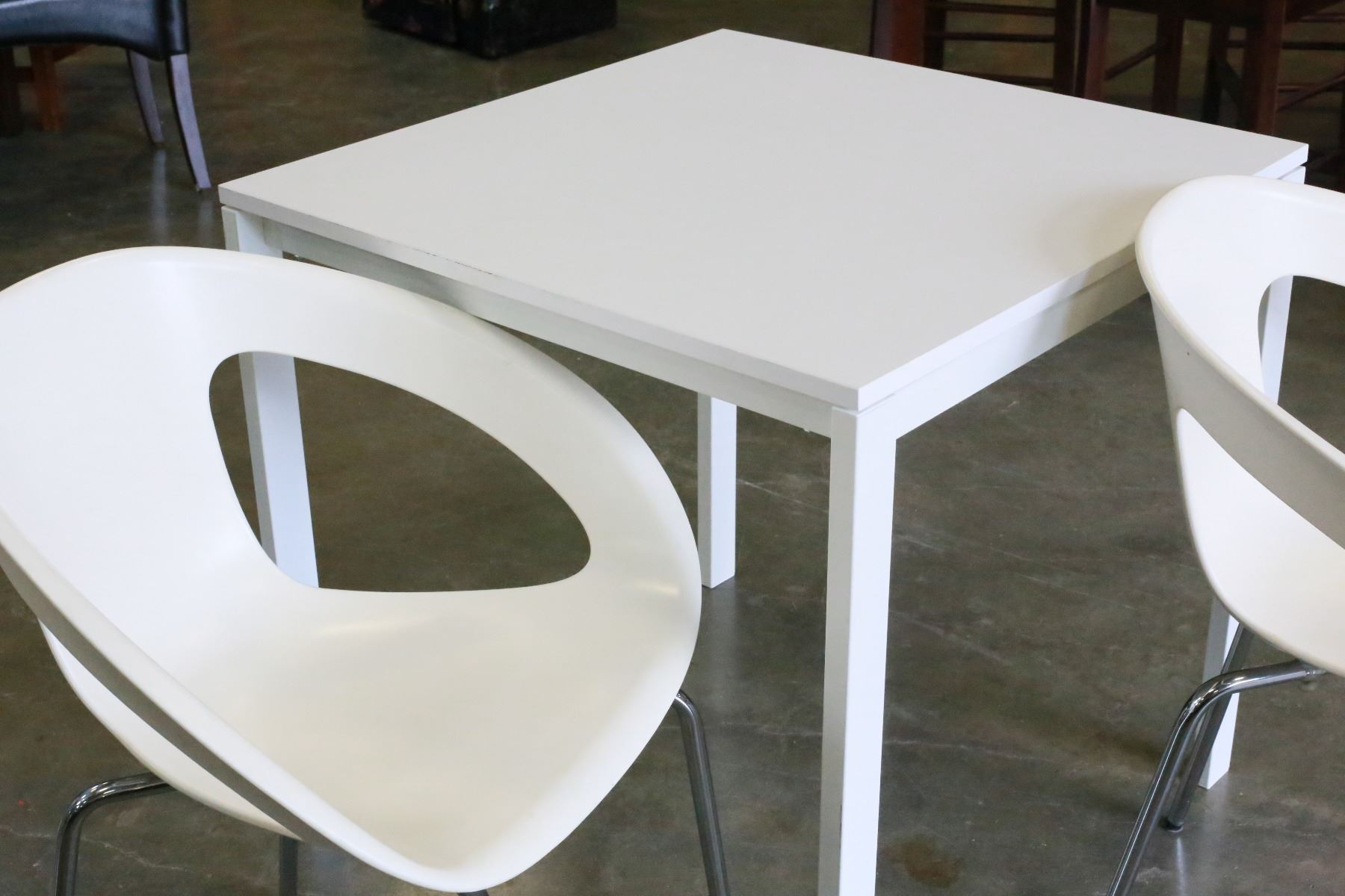ikea metal chairs armed dining white apart size table with two plastic and