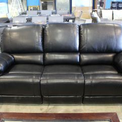 Almafi 2 Piece Leather Sofa Set And Love Seat Black White Slipcovers 3 Recliner