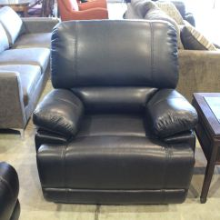 Black 3 Seater Sofa And Cuddle Chair Smith Brothers Piece Recliner Leather Set Love Seat