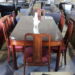 Chinese Rosewood Dining Table And Chairs Retro Nz With 2 Leaves 8