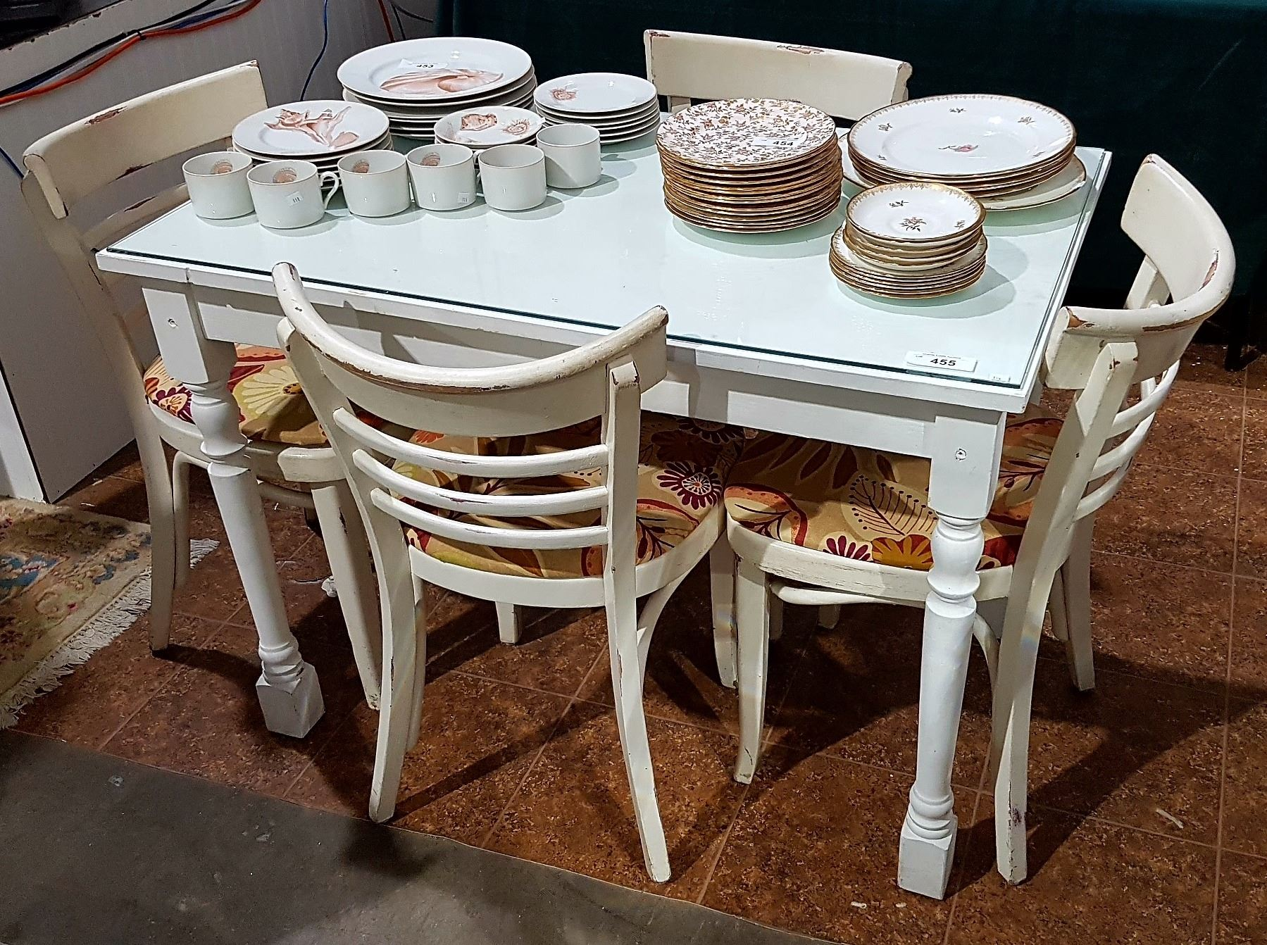 small bistro table and chair best outdoor rocking chairs 4 grande estate auction