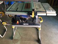 "MASTERCRAFT 10"" TABLE SAW WITH FOLD & ROLL STAND ( SOME ..."