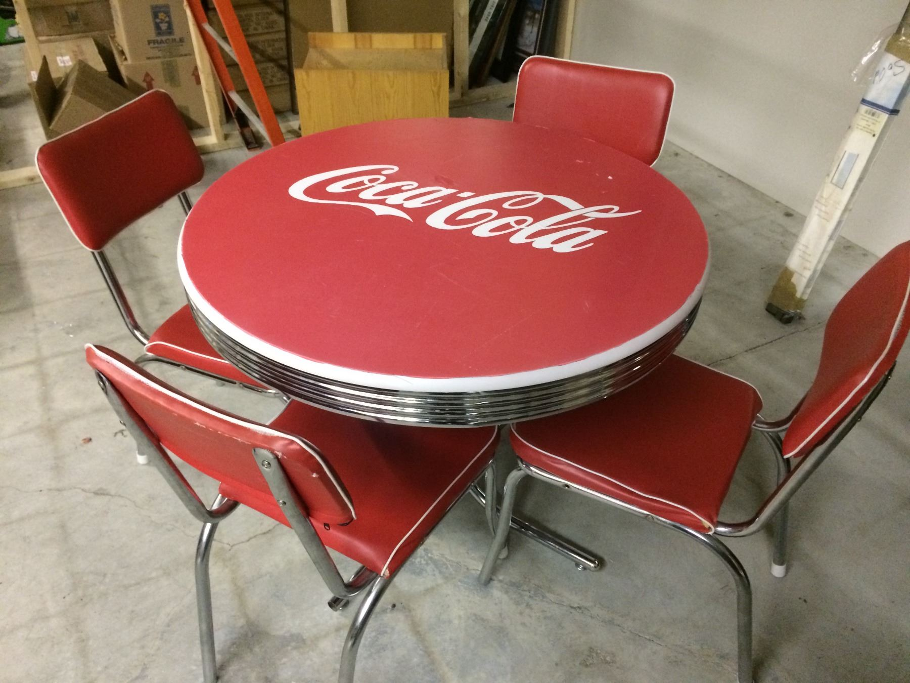 coca cola chairs and tables childs bean bag chair vintage diner table w