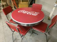 VINTAGE COCA COLA DINER TABLE W/ CHAIRS