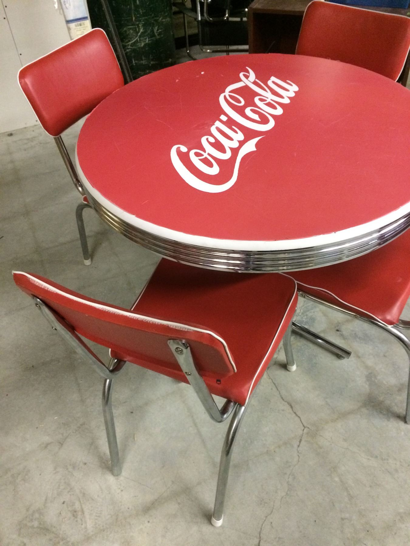 coca cola chairs and tables cheap game vintage diner table w