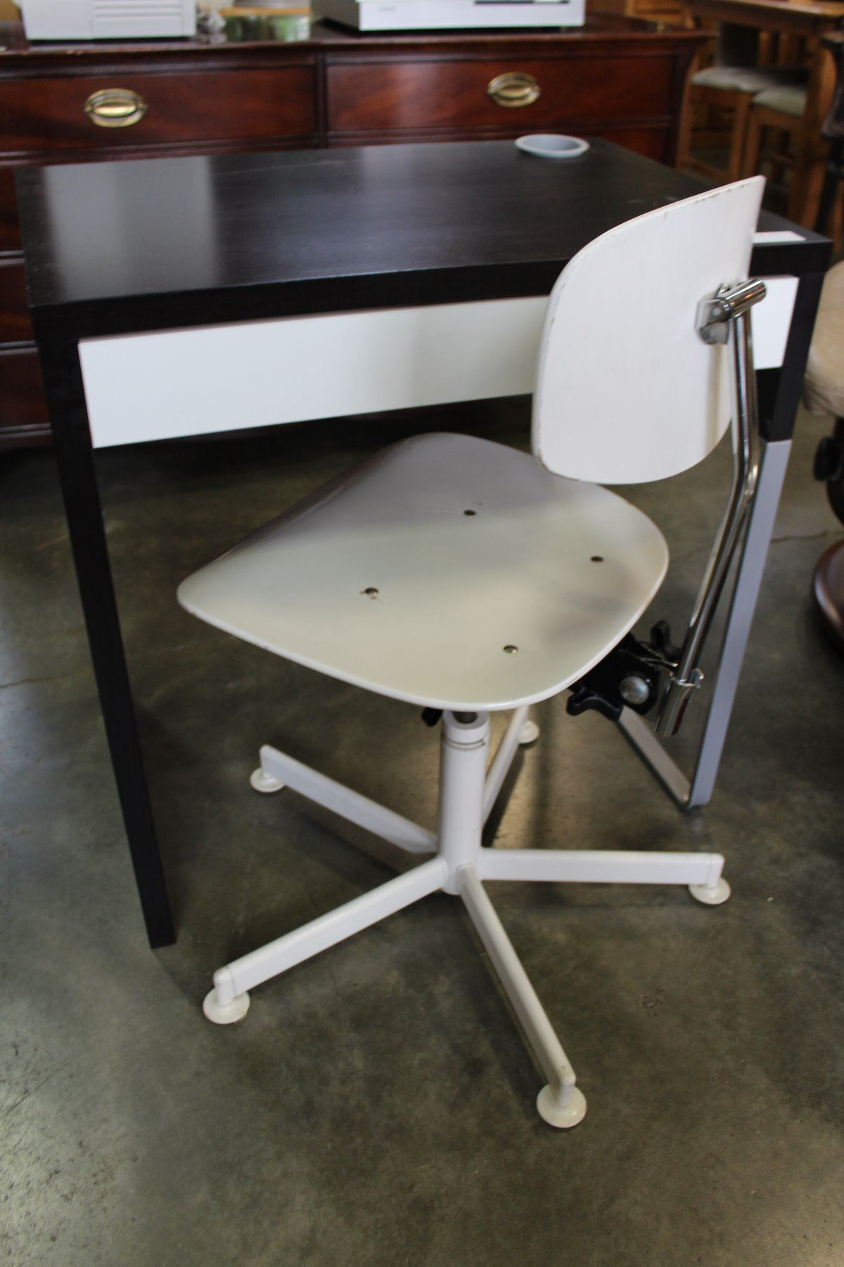 modern white desk chair resin wicker patio table and chairs small office