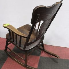 1920s Rocking Chair Ikea Covers Nils Antique Circa 1920 S Wooden Image 2