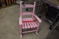 Small Pink Wooden Rocking Chair