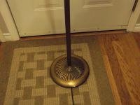Brass& Crystal Floor Lamp w/Linen Shade (Works)