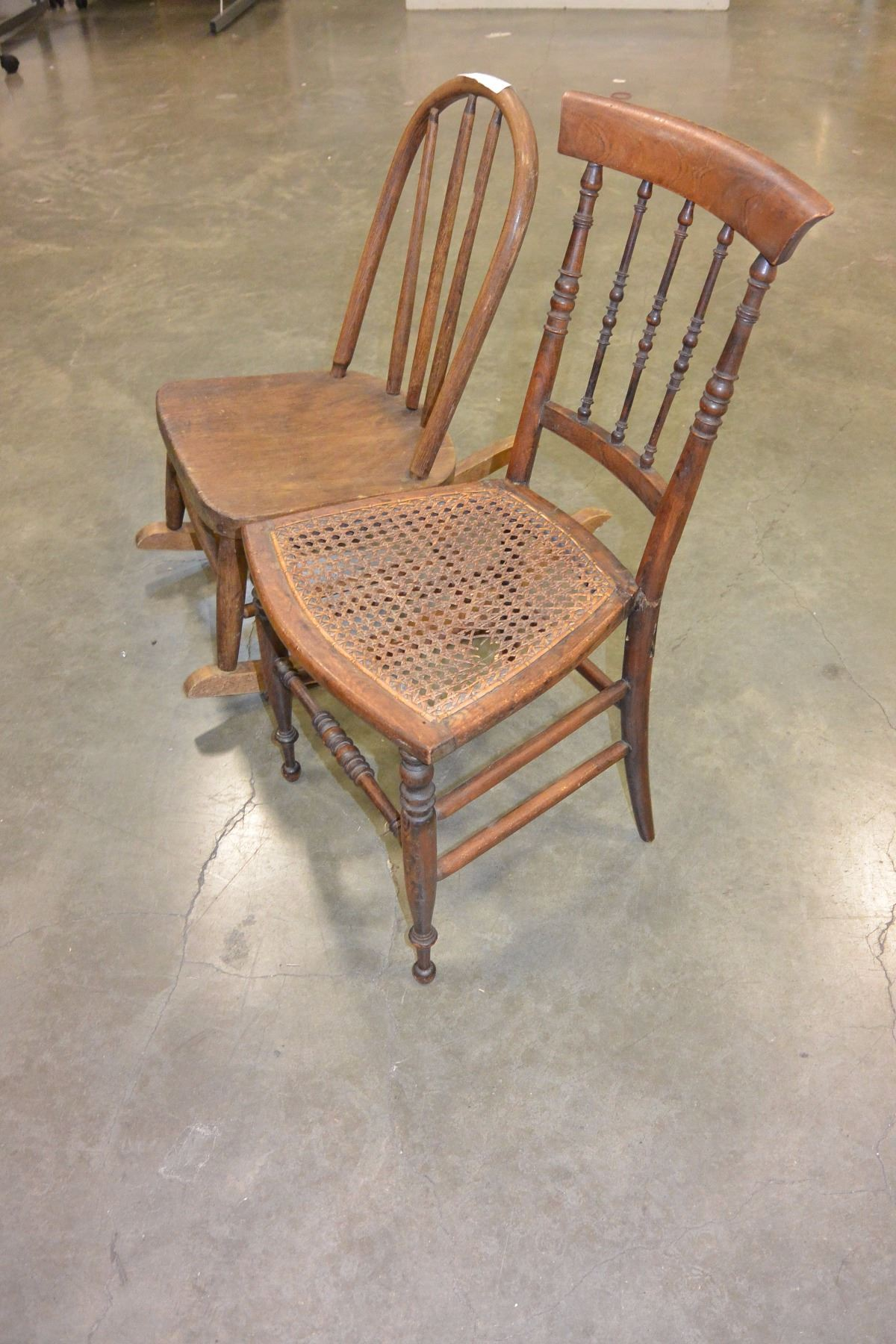 1920s rocking chair clear desk kids and hand made bentwood image 2