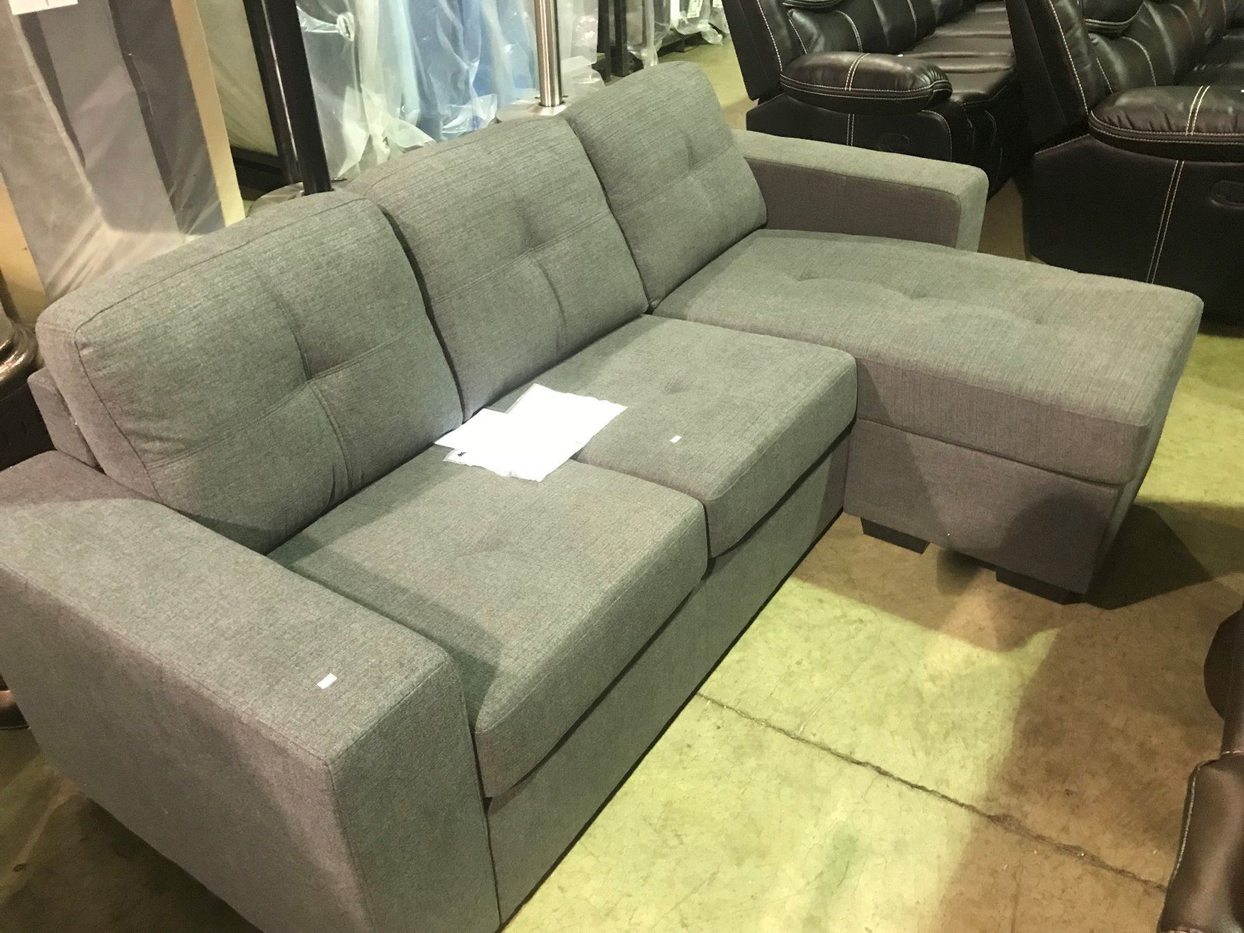 3 seater fabric sofa grey sectional bed vancouver seat with lounger able auctions