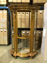 LARGE OAK CURIO CABINET - Able Auctions