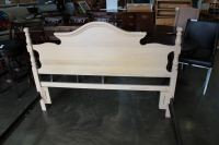 MAPLE FINISH QUEENSIZE BED FRAME WITH UNDERBED STORAGE