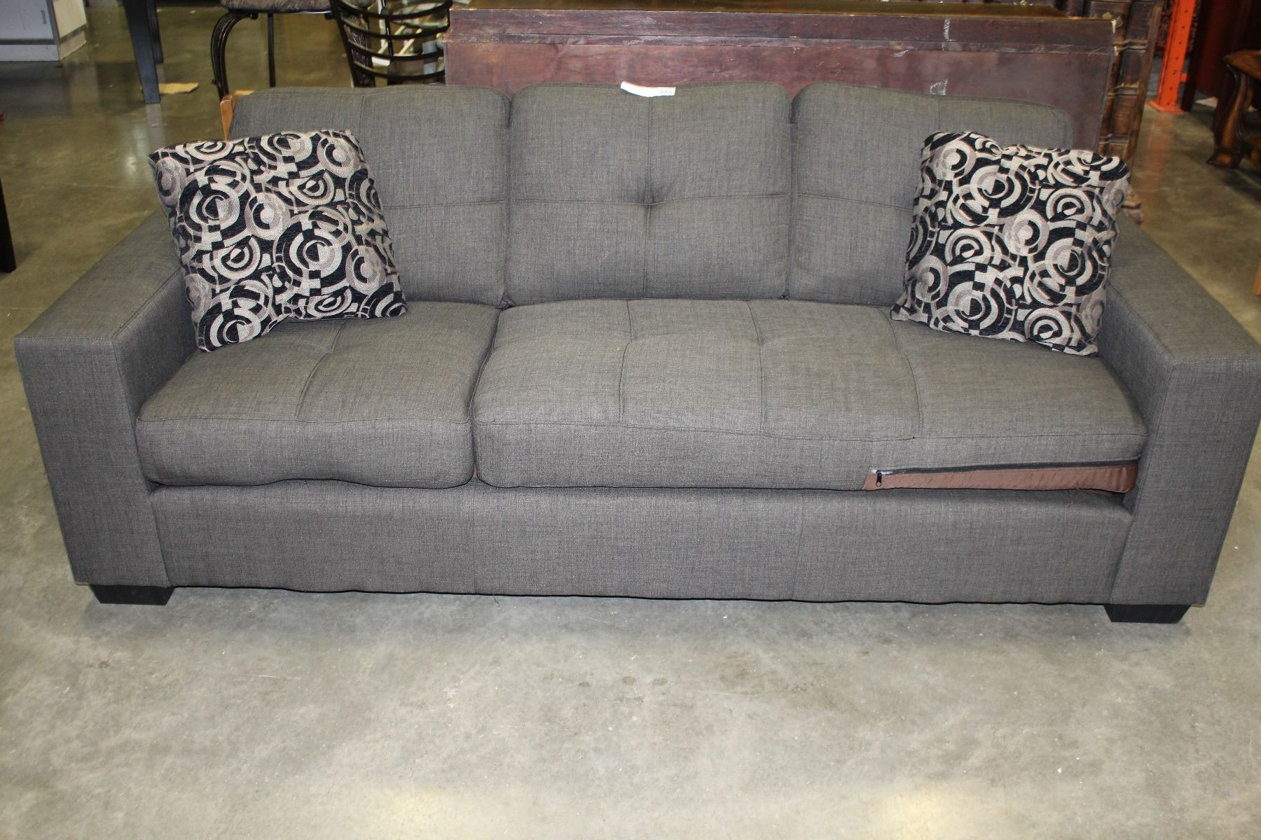large square sofa cushions dallas dining set new home elegance grey tufted modern arm with