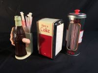 VINTAGE COCA-COLA RESTAURANT TABLE SETTINGS INC. TWO STRAW ...