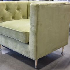 Sears Accent Chairs Massage Chair Headrest New Home Tufted Modern Green Fabric Retail 399 Image 3