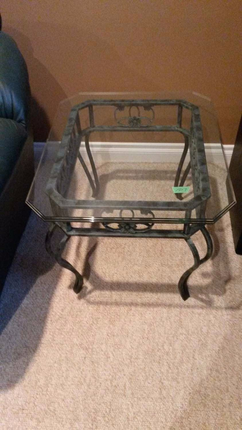 Set Of 3 Coffee Tables, With Glass tops
