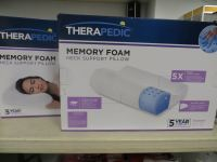 2 THERAPEDIC MEMORY FOAM NECK SUPPORT PILLOWS