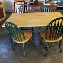 Green Dining Room Table And Chairs Swing Chair Debenhams Maple Four Big Valley