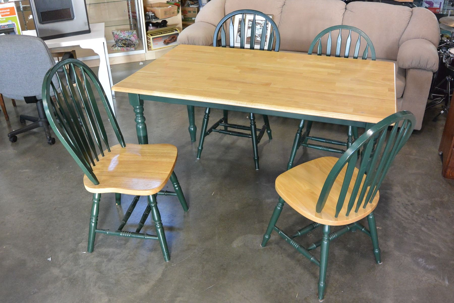 green dining room table and chairs hanging chair pier one maple with four