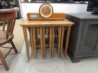 Rolling End Table with 4 Folding Accent Table