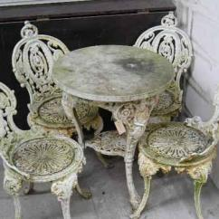 Iron Outdoor Chairs Bungee Cord Chair Menards A Set Of Four Victorian Style Cast Garden And Similar Image 1